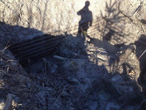 Раскопки немецкого блиндажа в ускоренной сьемке \\ excavation.