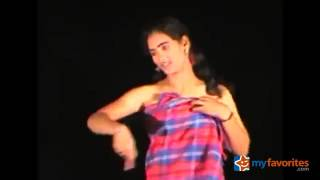 Romantic recording dance in village function