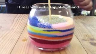 Let's make a charming indoor plant with colored sand