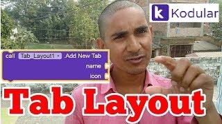 Tab Layout makeroid / Kodular. Free aia file