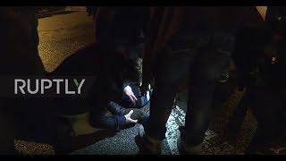 France: Migrants caught chasing trucks near French-English border
