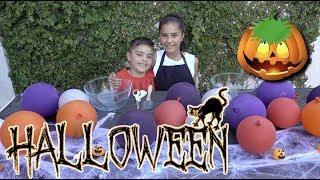 Halloween Balloon Slime Challenge | Grace's Room