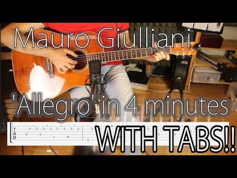 Xxx Mp4 Intermediate Classical Guitar Fingerstyle Tutorial Tabs Chords Allegro By Mauro Giuliani 3gp Sex