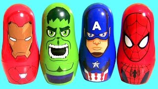 IRON MAN vs. CAPTAIN AMERICA Civil War Stacking Cups Spiderman Black Panther Play-Doh Surprise Eggs