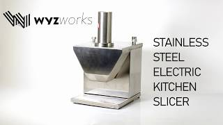 WYZworks Stainless Steel Electric Meat Chopper Commercial Kitchen Slicer