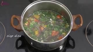 Resep Sup Kacang Merah Vegetarian