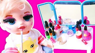 Baby Alive Oyuncak Bebek ile Yüz Boyama | Bebek Videoları | Oyuncak Butiğim