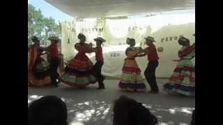 El cuadro de danza . De La Ceiba  Escuela Copan Galel