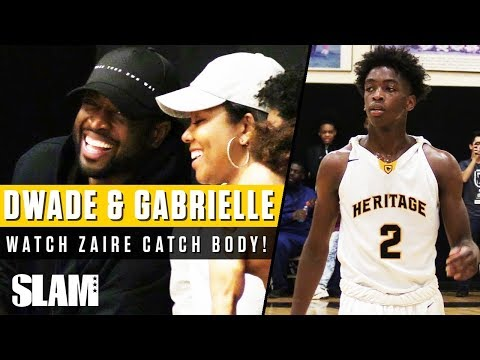 Dwyane Wade and Gabrielle Union Watch Zaire Catch First POSTER DUNK ⚡️