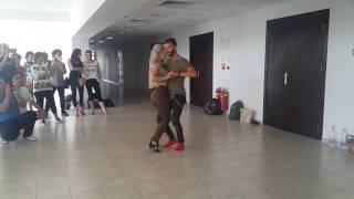 Sara Lopez kizomba lesson Plovdiv 2016