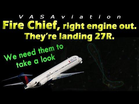 watch [REAL ATC] Delta MD88 RIGHT ENGINE FAILURE at Atlanta!