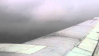 LANDING IN SEVERE TURBULENCE AND WIND BOEING 737 BRITISH AIRWAYS