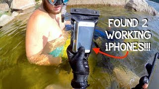 River Treasure: FOUND 5 PHONES, Custom Pocket Knife, Ray-Bans, Fidget Spinner, and Pipe in River!!!