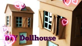 صنع بيت باربي من الكرتون   DIY doll house easy and fast