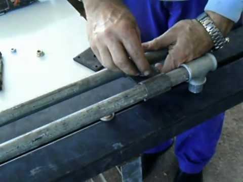 Torno taladro Para hacer piezas de hasta un metro