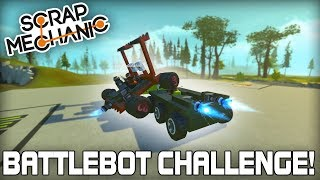 Multiplayer Battlebot Build Challenge! (Scrap Mechanic #222)