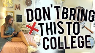 What You SHOULD and SHOULD NOT Bring To Your Dorm! College Packing!