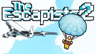 PARACHUTING From a PRISON AIRPLANE! - The Escapists 2 Gameplay