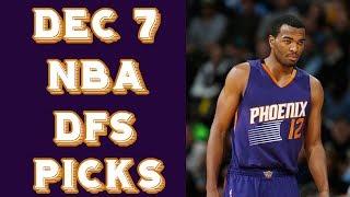 12/7/17 NBA DraftKings Picks