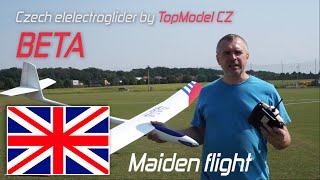 Czech Electroglider Beta by TopModel CZ - Maiden flight