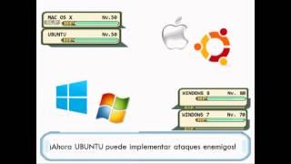 Win. 8/7/Vista/XP/ME vs Mac OS X/Ubuntu (Batalla Pokémon)