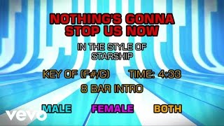 Starship - Nothing's Gonna Stop Us Now (Karaoke)