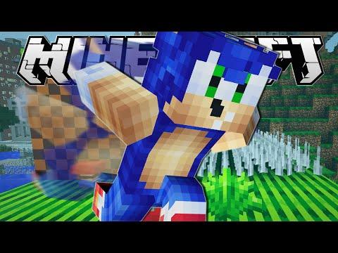 Minecraft SUPER SPEEDY SONIC LEVEL Death Run Minigame