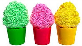Foam Ice Creams Surprise Eggs Frozen Peppa Pig  Minions Masha Disney Toys Play Doh Eggs Play Dough