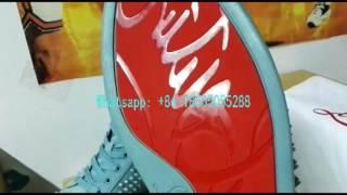 Light  Blue Louboutine Sneakers Louis Men Footwear Women Louboutins 2015 New Color