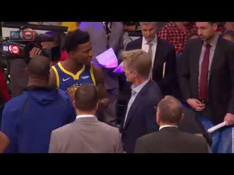 Xxx Mp4 Steve Kerr And Jordan Bell Having A Heated Exchange Warriors Vs Lakers January 21 2019 3gp Sex