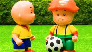 Playing Football | Funny Animated cartoons Kids | WATCH ONLINE | Caillou Stop Motion