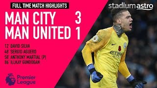Manchester City 3 - 1 Manchester United | EPL Highlights | Astro SuperSport