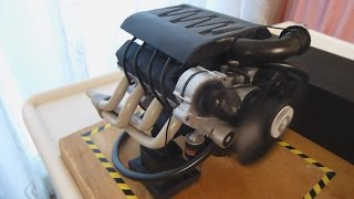Homemade Electric V8 Engine Working Model (1:8 scale) Part 1