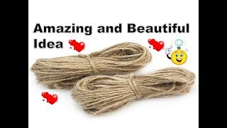 DIY Jute Craft Idea | Best out of Waste | DIY Home Decorating Idea | Best Craft Idea