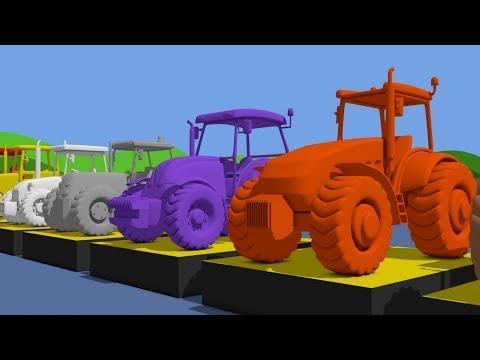 Xxx Mp4 Learn Colors With Tractor Cartoon Animation For Kids And Babies Kolory TRAKTORY Dla Dzieci 3gp Sex