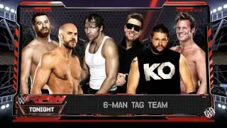 wwe 2k16 6  man tag team match raw 30/5/2016