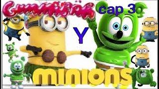 Osito Gominola Y Minions Cap 3 Conejos Y Rana, Gummy Bear And Minions ep 3 Rabbid And Frog g b a m .