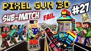 Dad & Son play Pixel Gun 3D! %$@CURSE WORDS#!@ FGTEEV vs. SUBSCRIBERS FAIL! (Part 27)