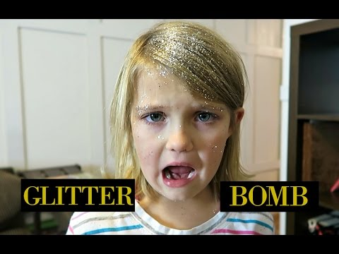 PRANKING OUR KIDS GIANT GLITTER BOMB