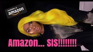 AMAZING *CHEAP* AMAZON WIG?! YELLOW HAIR ON POC?!! NICKI MINAJ & KYLIE ARE SHOOK!   WORLDOFZACH