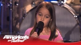 "Aaralyn & Izzy - Kid Metal Band Screams ""Lullaby Crash""- America's Got Talent 2013"