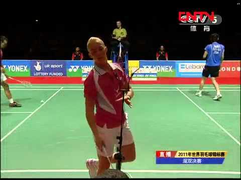 [2011 World Championships BXD-F] Zhang Nan/Zhao Yun Lei vs Chris Adcock/Imogen Bankier [6]