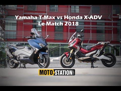 Honda X ADV vs Yamaha TMAX DX Le match choc scooter 2018
