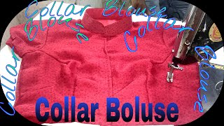 Collar Blouse cutting and stitching in Hindi