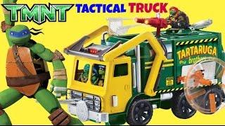 Teenage Mutant Ninja Turtle TMNT Tactical Tartaruga Truck, Exclusive Leonardo Toy Full Playset /TUYC