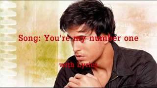 enrique iglesias - you're my number one - lyrics