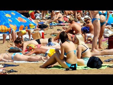 Podrezovo Beach Moscow Region Russia July 2016