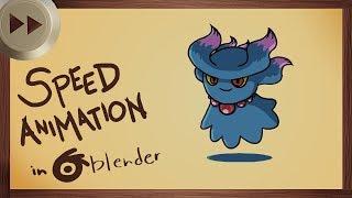 Animating Misdreavus in Blender 2.8 Alpha | BLENDER SPEED ANIMATION