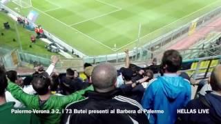 Palermo-Verona 3-2, i 73 Butei presenti al Barbera