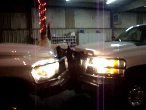 Chevy vs. Dodge Bumper to Bumper Truck Pushing Match Round 4 Final